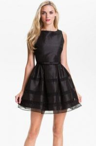 Fit and Dlare Dress Black