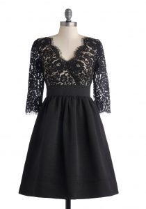 Fit and Flare Cocktail Dress with Sleeves