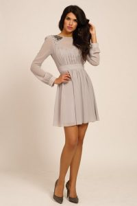 Fit and Flare Dress Long Sleeve