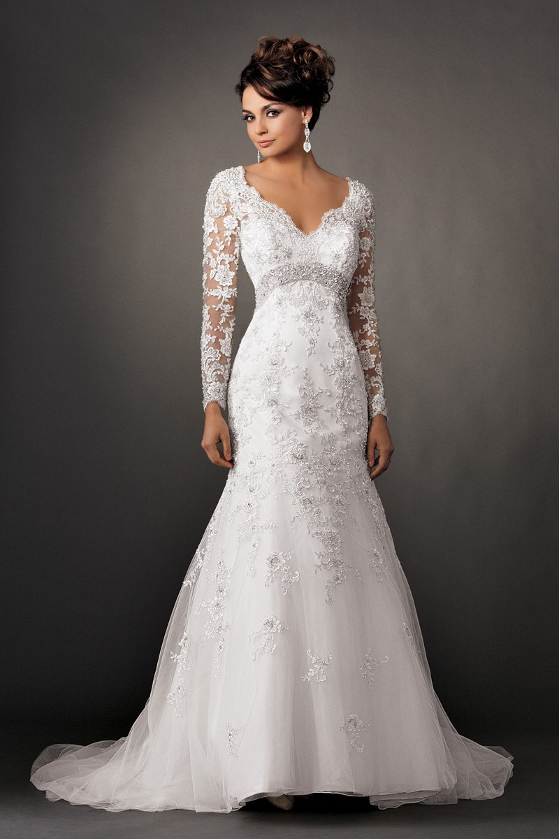 fit and flare wedding dress dressed up girl With fit and flare wedding dress with sleeves