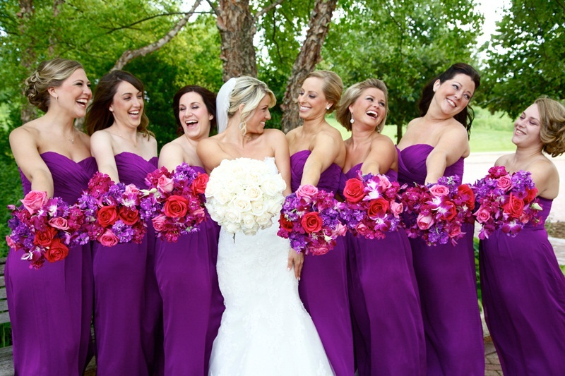 Bright Coloured Bridesmaid Dresses: Fuschia Dress Picture Collection