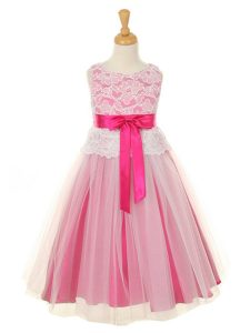 Fuschia Flower Girl Dress