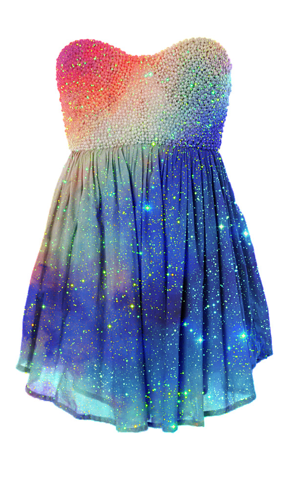 Galaxy dress dressed up girl for Space pattern clothing