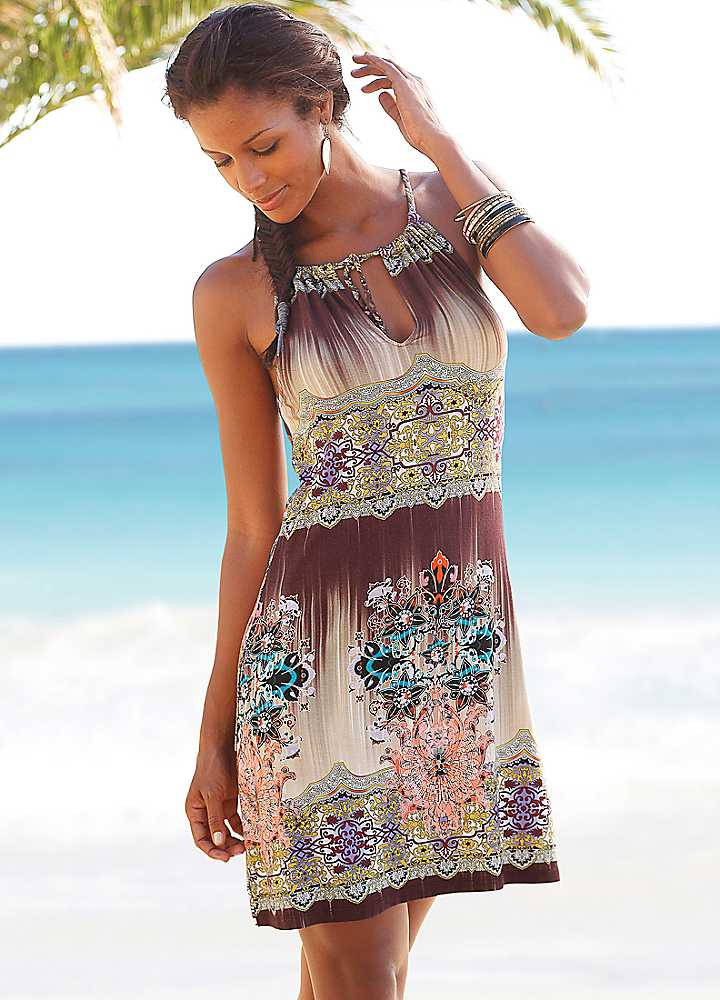 Beach Dresses All Clothing Kaftans Beach Dresses Boardshorts Beach Dresses. Beach Dresses. Beach Dresses There is 1 product. Sort by. Compare (0) Showing 1 - 1 of 1 item $ In Stock MILEA Spice Islands Shirt Dress Milea Spice Islands Shirt Dress Pleat Detail at Front Waist Gathered Neckline Faggoting Trim Viscose/Silk Fabrication Totally.