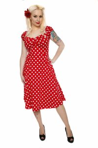 Girls Red Polka Dot Dress