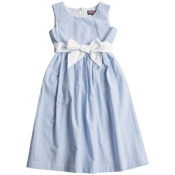 Seersucker Dress Dressed Up Girl