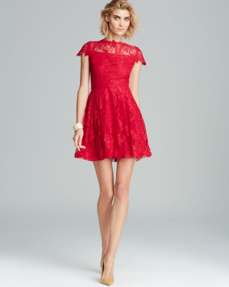 Red Fit And Flare Dress Picture Collection Dressed Up Girl