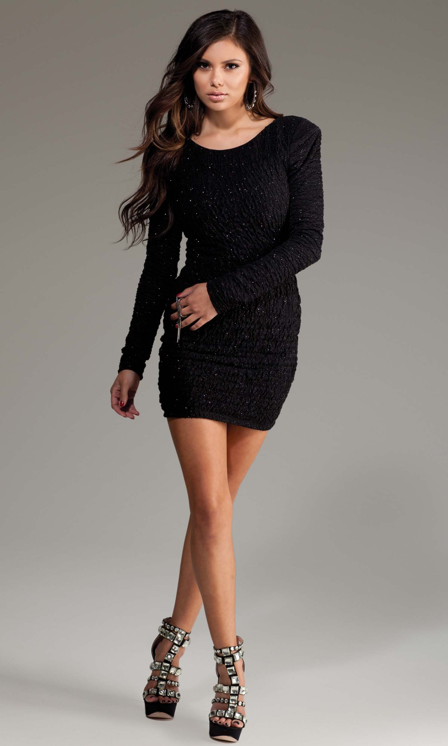 Black Mini Dress with Sleeves