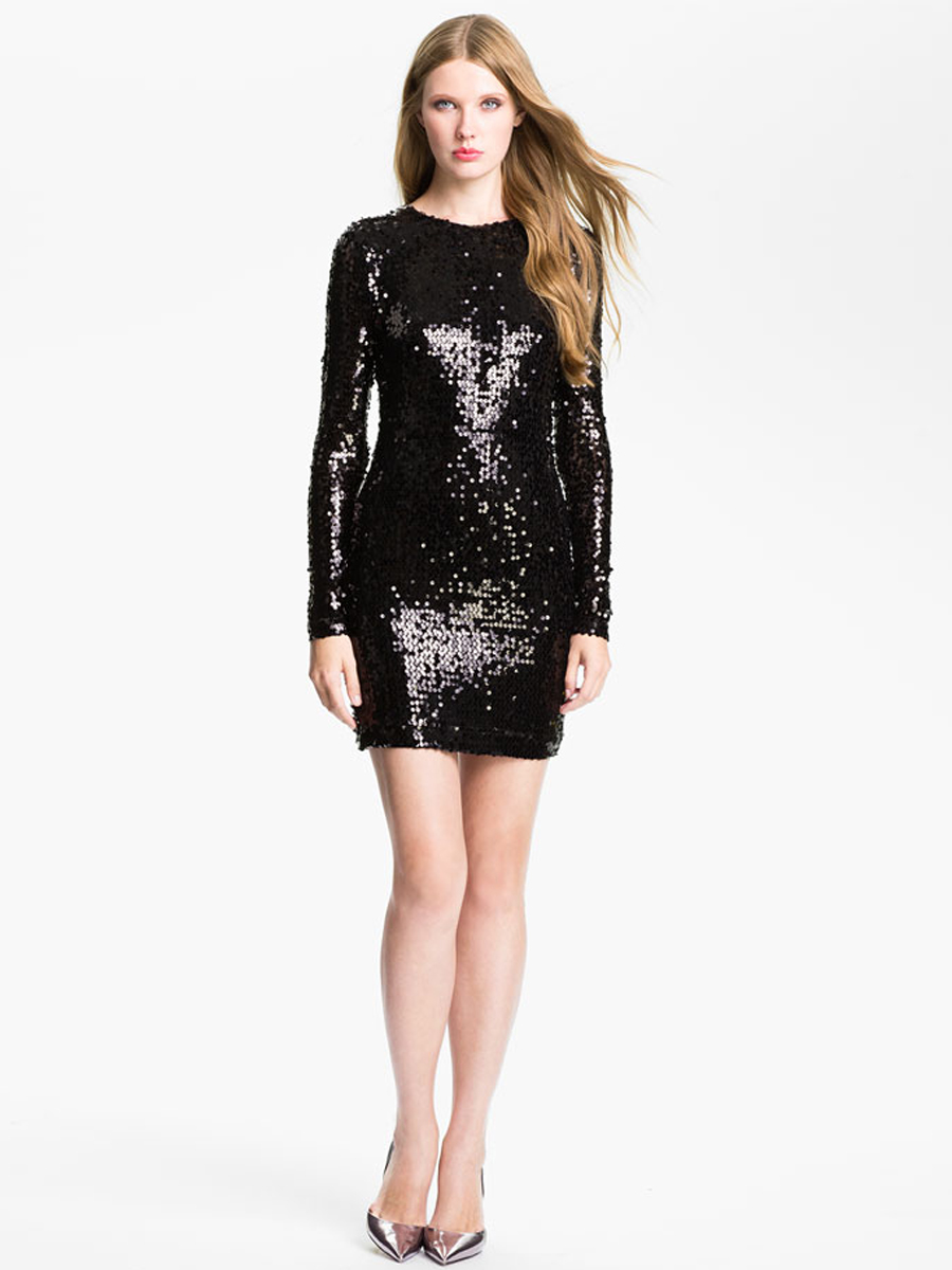 Black Sequin Mini Dress  Cocktail Dresses 2016