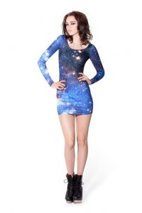 Long Sleeve Galaxy Dress