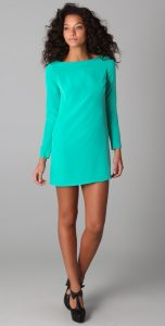 Long Sleeve Mini Shift Dress