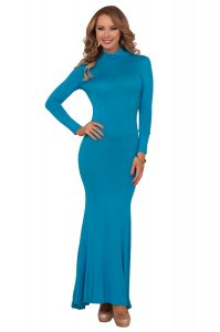 Long Sleeve Turtleneck Maxi Dress