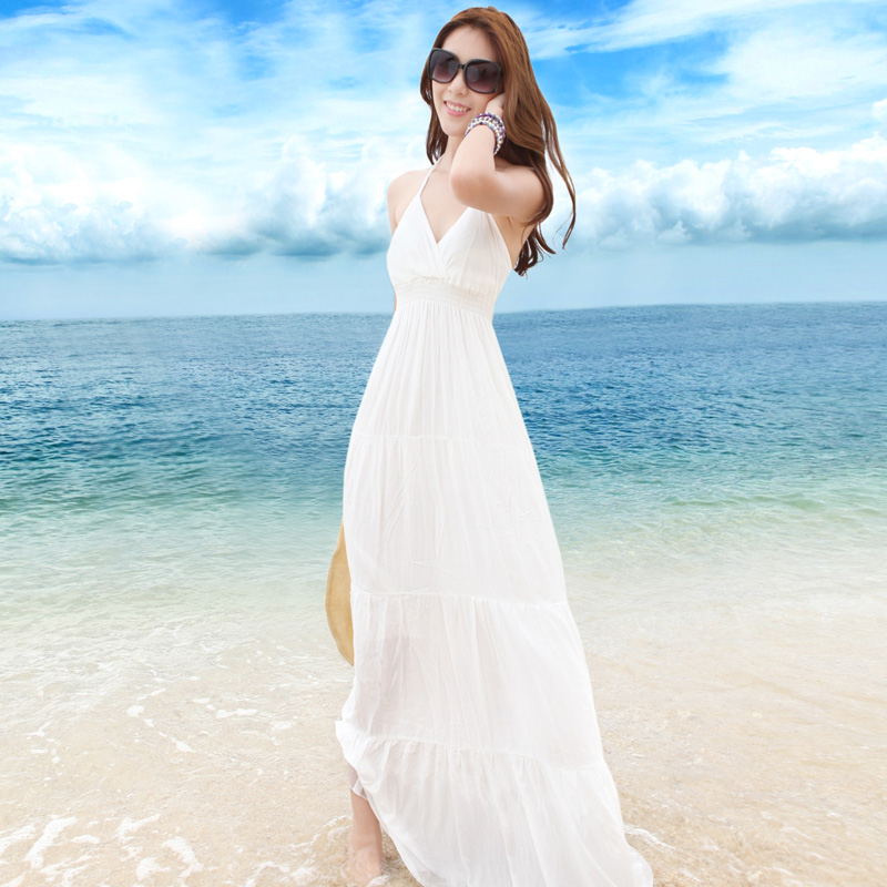 Long White Beach Dress - white dresses for a beach wedding