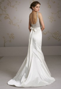 Low Back Wedding Dress with Bow