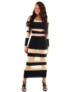 Mesh Long Sleeve Dress