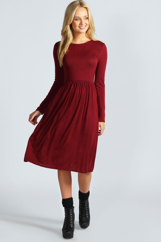Long Sleeve Midi Dress Picture Collection | DressedUpGirl.com