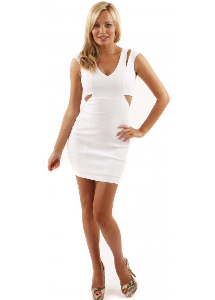 white mini dress dressed up girl. Black Bedroom Furniture Sets. Home Design Ideas