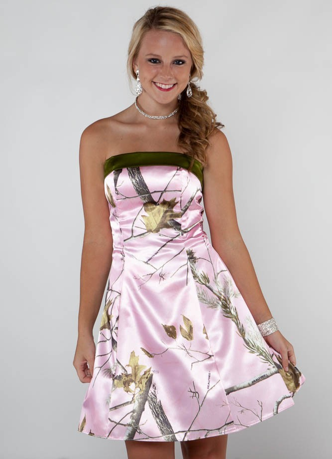 White And Pink Camo Wedding Dresses 90