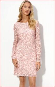 Pink Sequin Cocktail Dress