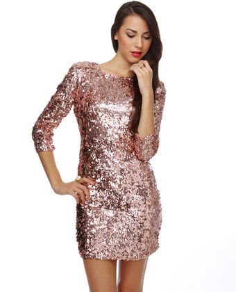 Pink Sequin Dress | Dressed Up Girl