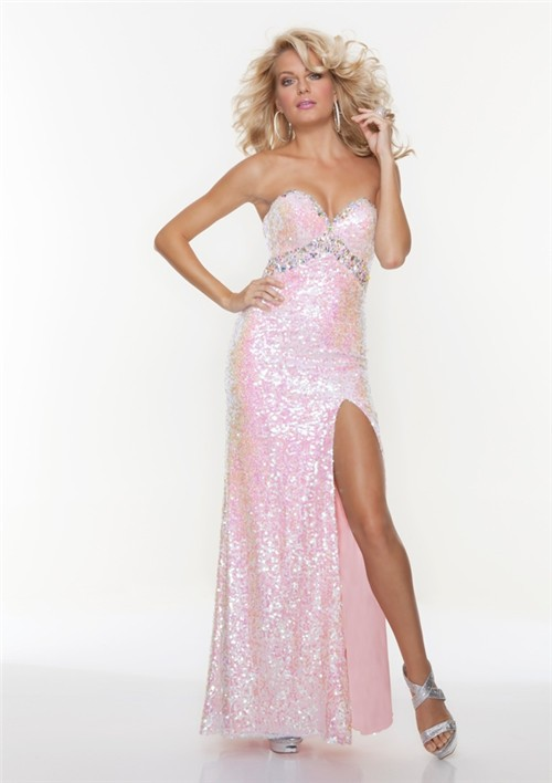 Pink Sequin Dress Picture Collection Dressedupgirl Com