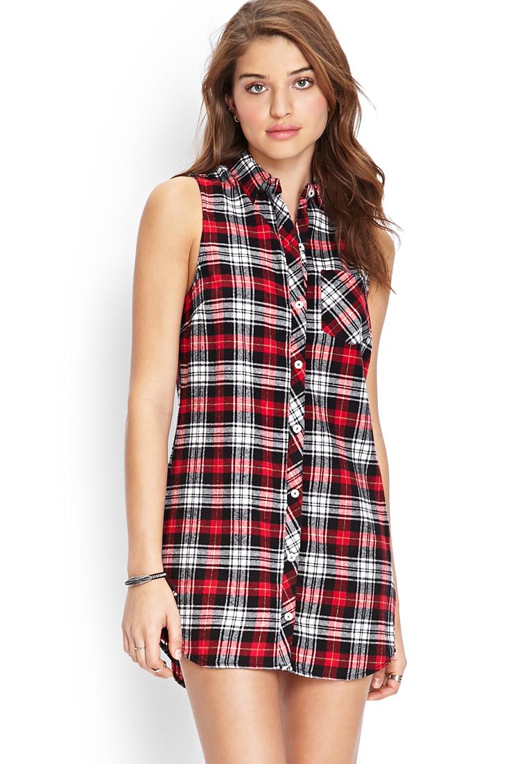 Plaid dress dressed up girl for Red plaid dress shirt