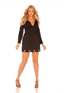 Plus Size Long Sleeve Mini Dresses