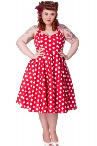 Plus Size Red Polka Dot Dress