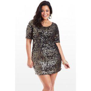 Plus Size Sequin Dresses