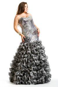 Plus Size Silver Dresses