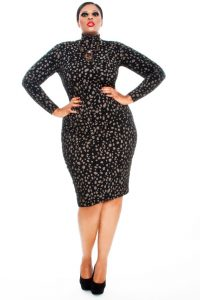 Plus Size Turtleneck Dress
