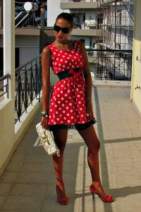 Polka Dot Dress Red