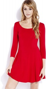 Red Fit and Flare Dresses