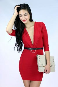 Red Mini Dress for Women