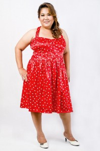Red Polka Dot Dress Plus Size