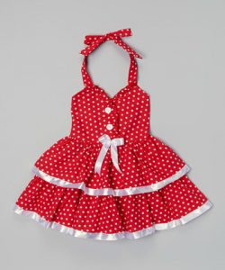 Red Polka Dot Dress Toddler