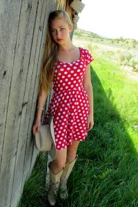Red Polka Dot Dress Women