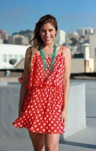Red Polka Dot Dress for Girls