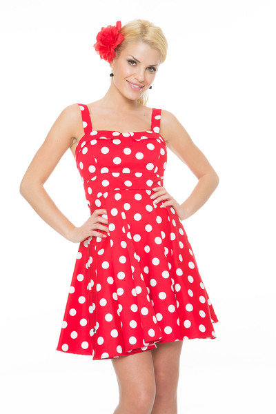 Red Polka Dot Dress - Dressed Up Girl