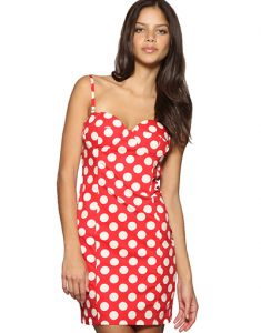 Red White Polka Dot Dress