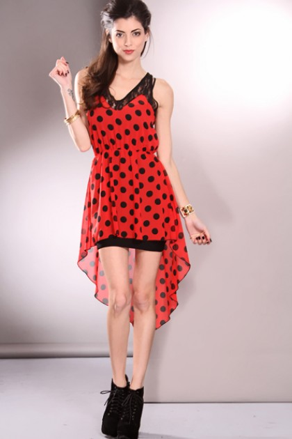 Red Polka Dot Dress | Dressed Up Girl