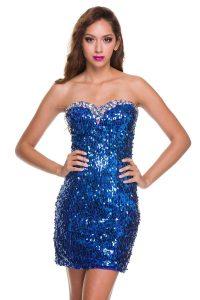 Royal Blue Sequin Dress