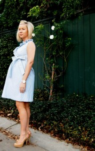 Seersucker Maternity Dress