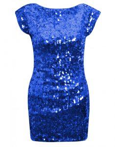 Sequin Blue Dress