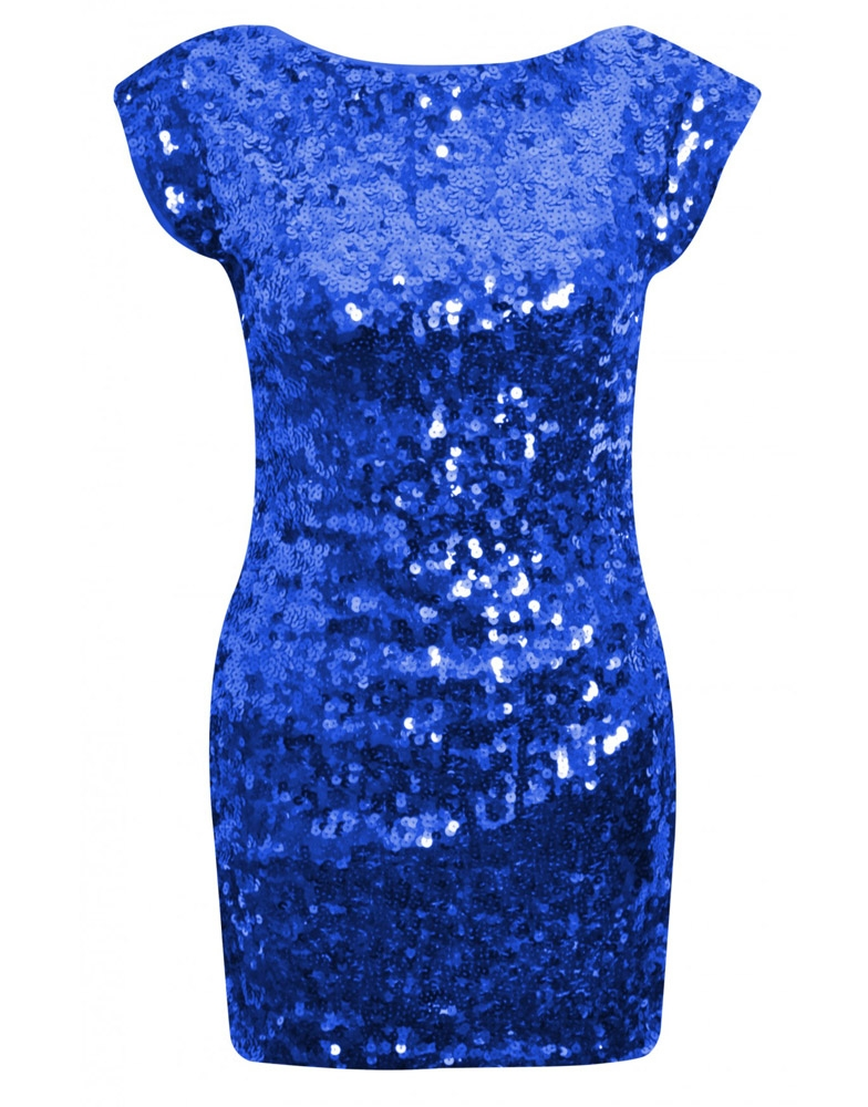 Blue Sequin Dress - Dressed Up Girl