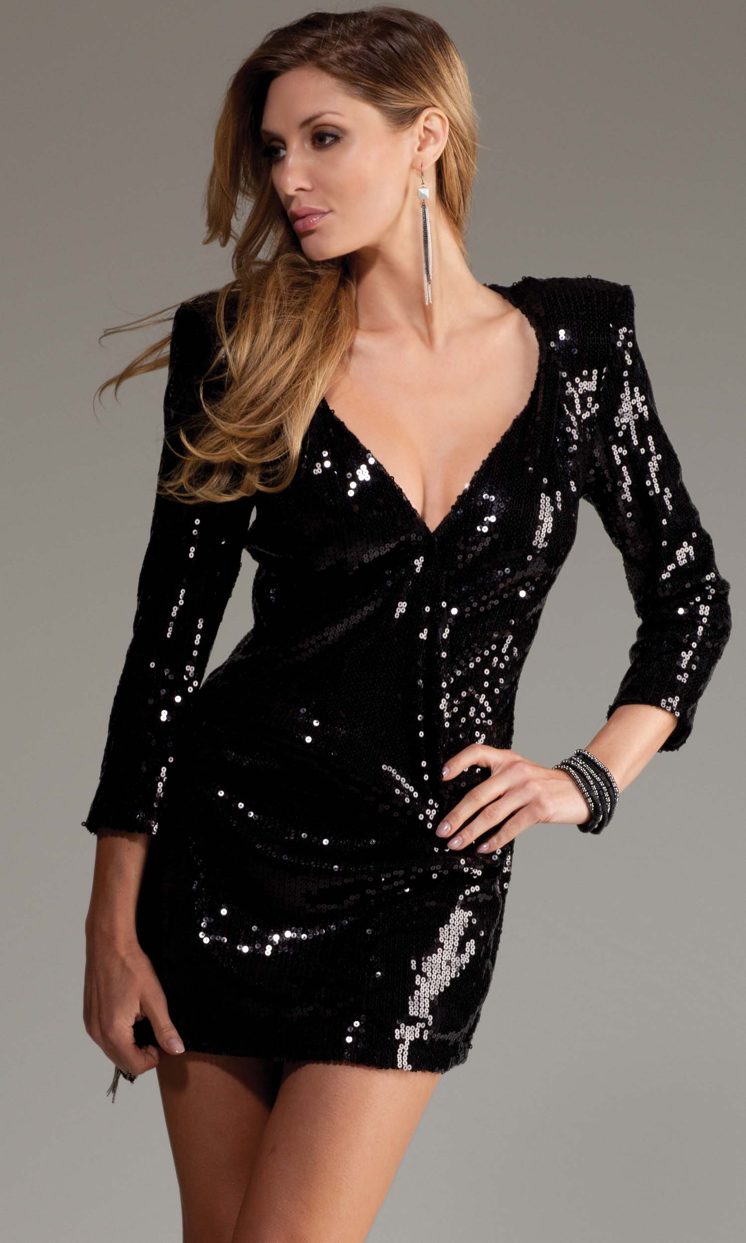 Sequin Shoulder Dress