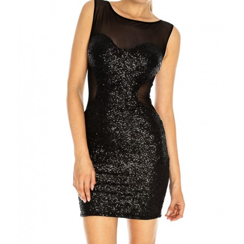 Black Sequin Mini Dress Photo Album - Reikian