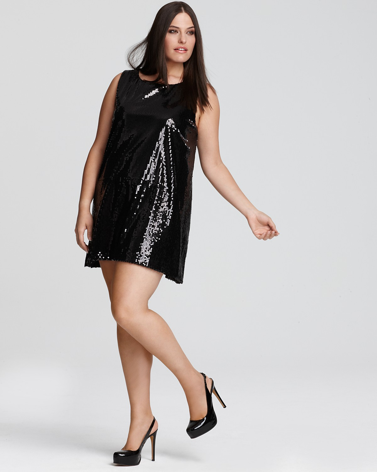 Sequin Plus Size Dresses - Holiday Dresses