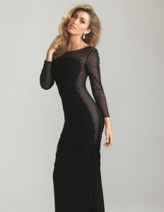 Sheer Long Sleeve Dress