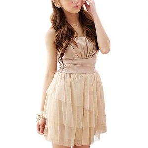 Short Beige Dress